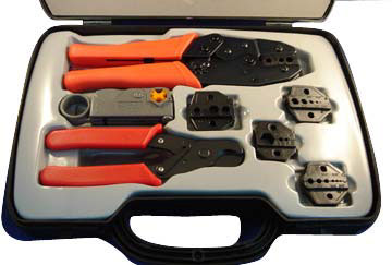 coaxial crimp tool kit commswest distribution. Black Bedroom Furniture Sets. Home Design Ideas