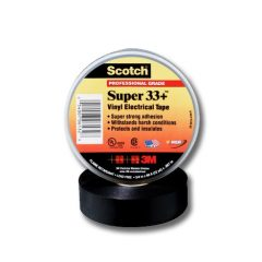 Black UV stable electrical tape