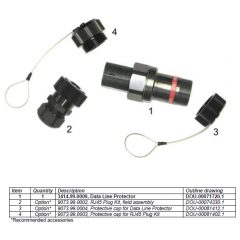 RJ45 plug kit, field assembly