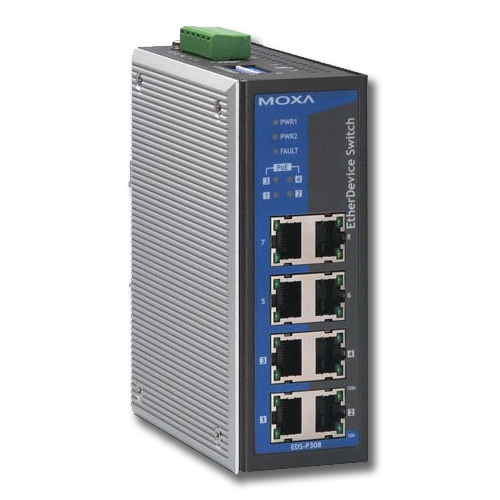 Moxa Industrial Unmanaged Ethernet Switch With 8 Ports