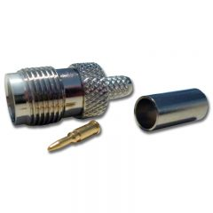 TNC Female Crimp, Reverse Pin, RG58