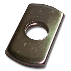 M6 Flange Nut, Zinc Plated