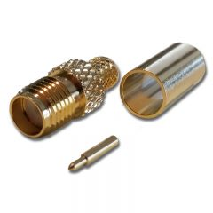 SMA Female Crimp Reverse Pin, LMR300