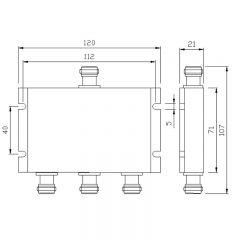 400-540MHz 3-Way Power Splitter (Micro-Strip)