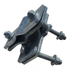 Galvanised Antenna Clamp. Right Angle, Heavy Duty