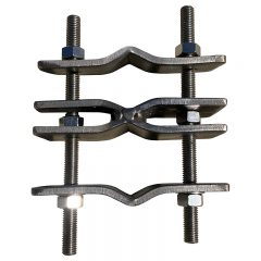 Stainless Steel Antenna Clamp. Parallel, Heavy Duty