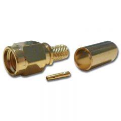 SMA Male Crimp, Reverse Pin, RG174