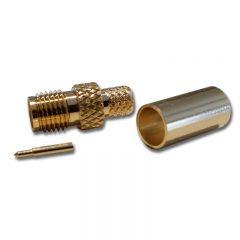 SMA Female Crimp Reverse Pin, RG58