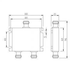 400-540MHz 2-Way Power Splitter (Micro-Strip)
