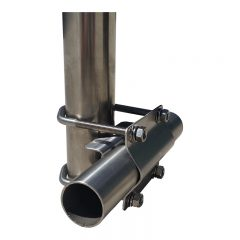 Antenna Clamp. Right Angle, Stainless Steel