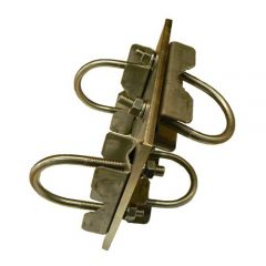 Antenna Clamp. Right Angle, Stainless Steel Heavy Duty