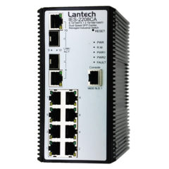 Lantech 8 Port Combo Managed Industrial Switch
