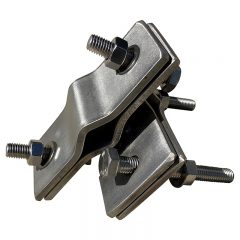 Stainless Steel Antenna Clamp. Right Angle, Heavy Duty